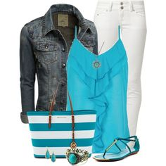 """""""Turquoise Tank"""" by daiscat on Polyvore"""