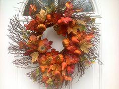 The Pumpkin Patch Fall Front Door Wreath Wreaths For Door http://www.amazon.com/dp/B00NDVO9OQ/ref=cm_sw_r_pi_dp_OHSgub0GDYA5H