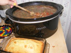 Tamale Kings Barracho Beans!! with cornbread YUM! recipe is at cookeatshare!