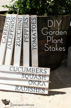 Hometalk :: To spice up the garden a bit, I made these super easy Garden Plant Sta…