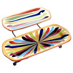 I pinned this 2 Piece Rectangular Platter Set with Stand in Tango from the Gail Pittman Collections event at Joss and Main!