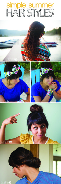 Summer Hairstyles that take Only Minutes!