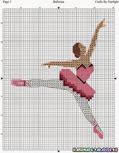 Схемы балерин вышивок крестом 481