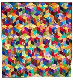 This quilt is really cool.  I can just see my Granny making one like this years and years ago.
