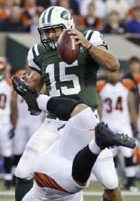 """Bengals beat Jets 17-6 in Tebow's NY debut"" ajc.com (August 11, 2012)"
