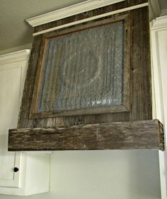 Old Ceiling Tile and Barn wood Ventahood