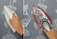 See-through iron let's you watch the de-wrinkling process