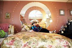 Pink bedroom in a Santa Monica home
