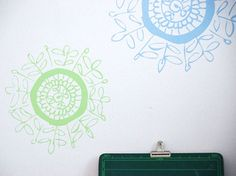 Doily decals for your wall