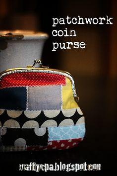 Cute patchwork coin purse