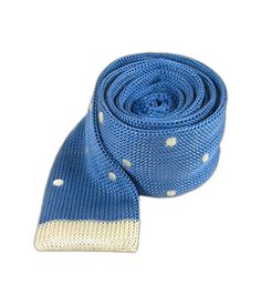 Tipped Knit Tie Polkas - Powder Blue $20