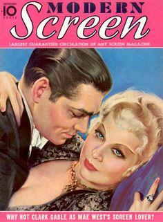 """Clark Gable on """"Modern Screen"""""""