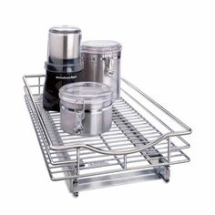 Amazon.com: Lynk Professional 11 by 21 by 4-Inch Roll-Out Chrome Cabinet Drawer: Home & Kitchen