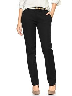 Gap, black 'true straight' pants