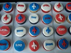 Cupcakes to honor my Eagle Scout by Jenny Harris Custom Cake Design