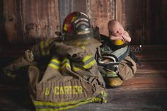 Fire fighter baby, just like his daddy :)