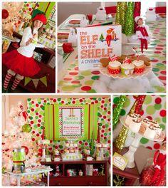 Santa's Little Helpers Christmas Party with Such Cute Ideas via Kara's Party Ideas | KarasPartyIdeas.com #ChristmasParty #HolidayParty #Part...