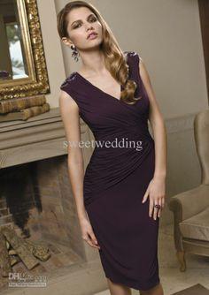 Evening Dress - Buy Sexy Mother of the Bride Dresses V Neck Chiffon ...