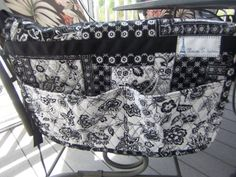 walker bag caddy bag crafts bag by clairestjames13 on Etsy, $25.00