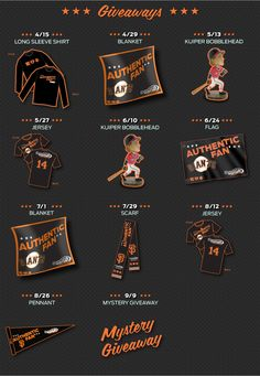 Lots of fun #SFGiants Swag coming to you this summer! Come visit the Comcast SportsNet tent every Tuesday home game to get your giveaway! Flags, blankets, and scarves coming soon!
