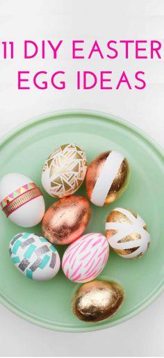 11 pretty DIY Easter egg decorating ideas