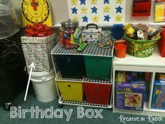 classroom birthday, birthday banners, birthday box