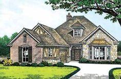 Tudor Meets English Cottage (HWBDO07159) | Tudor House Plan from BuilderHousePlans.com