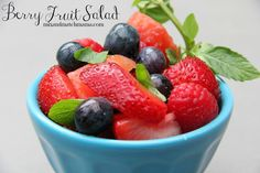 Berry Fruit Salad would be perfect for Memorial Day or July 4th