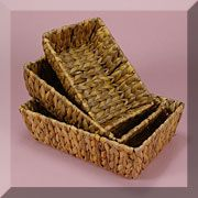 Rectangular Rush Basket Set - Discount gift basket and packaging site