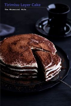 The Whimsical Wife: Tirimisu Layer Cake & Nespresso Aeroccino3