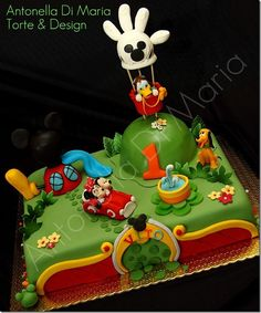 Magnificent Mickey Mouse Clubhouse Cake