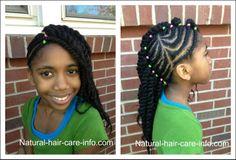 natur hairstyl, tutori hairstyl, little girls, cornrows, protective hairstyles