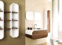 Bathroom Shelves Ideas, 21 Cool Ideas   - For more go to >>>> http://bathroom-a.com/bathroom/bathroom-shelves-ideas-a/  - Bathroom Shelves Ideas, Imagine a scenario where you are standing in the bathroom shower or bath tub, then you realize that you forgot to bring the shampoo bottle which is stored in a cabinet in the hallway near the bathroom. Ideas like getting out of the bathroom wet or screaming for someone's h...