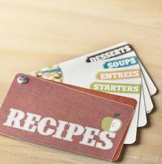 Recipe swatchbook -- such a fun gift!