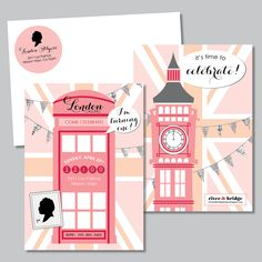 river & bridge: london calling invitation...this would be beyond perfect for my little niece!