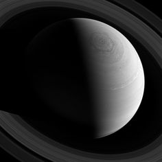 This view looks toward the sunlit side of Saturn's rings from about 43 degrees above the ringplane. The image was taken with the Cassini spa...