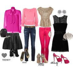my idea of different Valentine's Day date outfits ;)