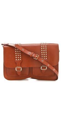 Rebecca Minkoff studded leather satchel