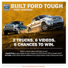 2 trucks, 6 videos, 6 chances to win.