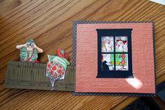 Art Impressions Ai Hollis - Front & Back (Sku#YY1901) Fence (Sku#P1499) In the Tub set of 4 (Sku#3570) Fanny Front & Back (Sku#T1716) Handmade girlfriends card. Inside of card.