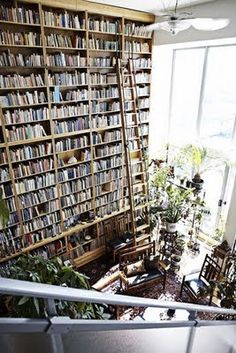 Of course, the book I need will be at the tippy top!