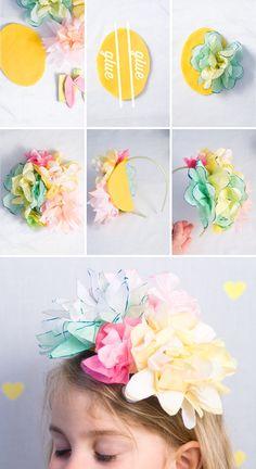 Coronas de flores de papel para cumpleaños. fiestas o un día cualquier especial :D