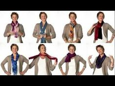 Scarf tying tutorial from Coldwater Creek - my mom (Lisa Qualls/OneThankfulMom) and I had a blast watching this! Have a few scarves handy and be ready to pause, because she whips through 8 different styles in under 3 minutes!