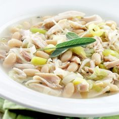 Chicken and White Bean Soup | Rotisserie Chicken Recipe Ideas | Quick & Easy Recipes | Food | Disney Family.com