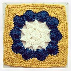 Ravelry: Popcorn Star Crochet Square pattern by Jessica Phillips