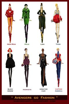 Avengers go Fashion by Sashiiko-Anti.deviantart.com on @deviantART