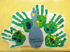idea, first week of preschool crafts, hands, handprint turkey, handprint art, hand prints, preschools, kid, preschool art
