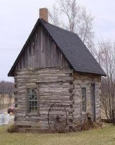 Log Cabin  Old Wagon Wheel