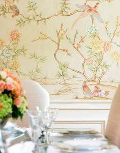 Beautiful Wallpaper via The French Tangerine