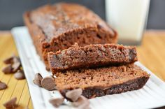 double chocolate zucchini bread. This looks moist and perfect!